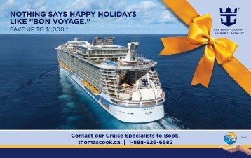 """NothiNg says happy holidays like """"BoN Voyage."""" - Thomas Cook"""
