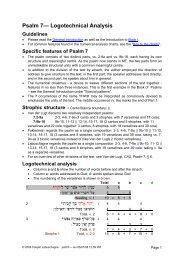 Logotechnical Analysis of Psalm 7 - labuschagne