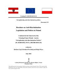 Brochure on Anti-discrimination Legislation and Policies in Poland