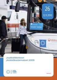 Joukkoliikenteen yksikkökustannukset 2009, 26/2010 - HSL