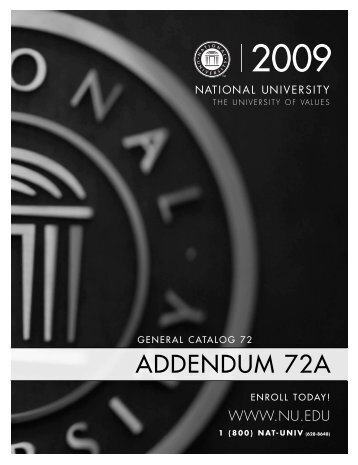 Catalog 72 Addendum A - National University