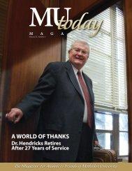 A World of ThAnks A World of ThAnks - Methodist University