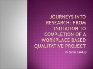 Journeys into research - The University of Manchester