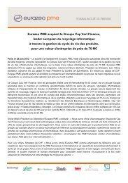 Eurazeo PME acquiert le groupe Cap Vert Finance, leader ...