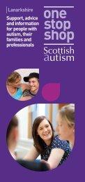 to download the Lanarkshire One Stop Shop ... - Scottish Autism