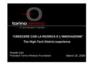 "The High-Tech District experience ""CRESCERE ... - Confindustria IxI"