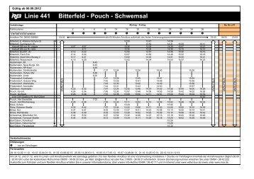 Linie 441 Bitterfeld