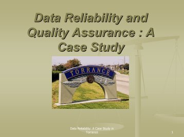 Data Reliability Testing - Intergovernmental Audit Forums