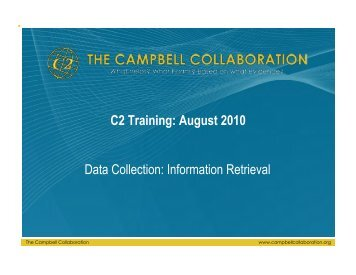 Information Retrieval - The Campbell Collaboration