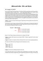 Mikrocontroller: Bits und Bytes - G. Heinrichs´ Homepage