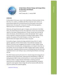 United States Climate Change and Energy Policy: An Overview and ...