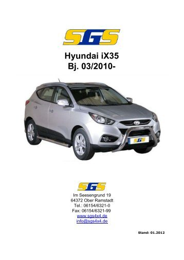 Felgen Programm Hyundai iX35 Bj. 03/2010 - SGS