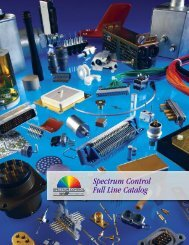 Spectrum Control Full Line Catalog