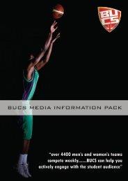 BUCS MEDIA INFORMATION PACK