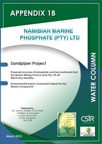 Water Column Study - Enviro Dynamics Namibia