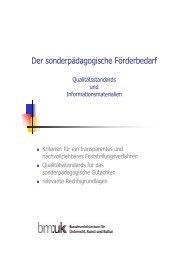 Der sonderpädagogische Förderbedarf ... - cisOnline