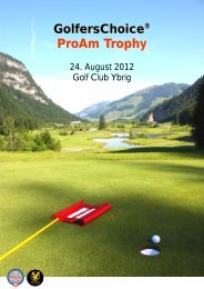 GolfersChoice ProAm Trophy - Golf Club Ybrig