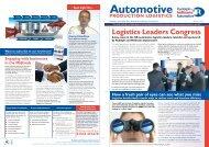Autumn 2011 Newsletter (PDF) - Automotive Manufacturing Logistics