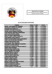 acta diplomas numerados - Federación Española A. de Jiu Jitsu y DA