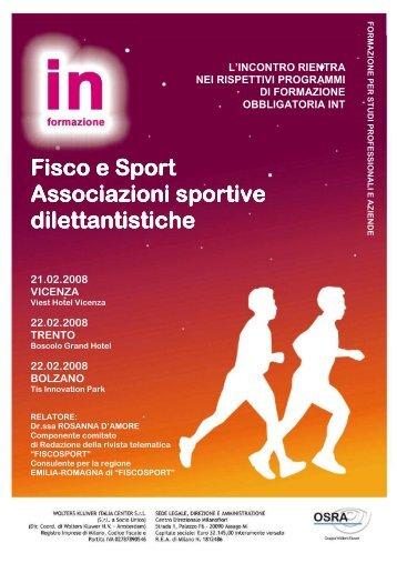 Seminari su Fisco e Sport, Associazioni sportive dilettantistiche ...
