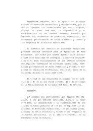 Res. boletin Instrucciones Funcionamiento Centros - Departamento ...