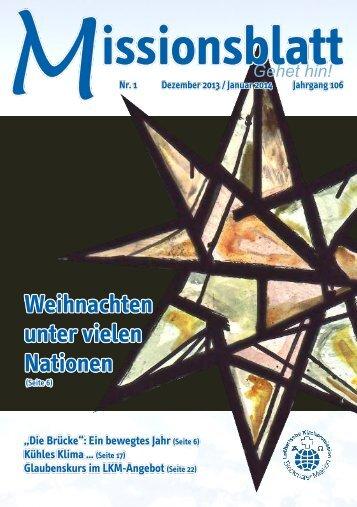 Missionsblatt Dezember 2013/Januar2014 - Lutherische ...