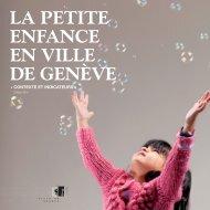 La petite enfance en Ville de Genève - Contexte et indicateurs