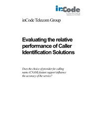 Evaluating the relative performance of Caller ... - VeriSign