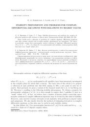 Stability phenomenon and problems for complex differential ...