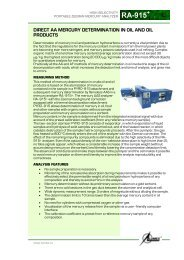 Direct AA mercury determination in in oil and oil products ...