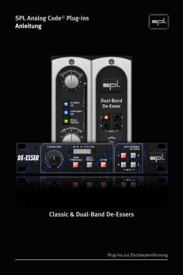 Anleitung Classic & Dual-Band De-Essers - Plugin Alliance