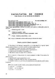 FACULTATEA l DE CHIMIE - CIOCP