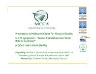 Becoming and Islamic bank in Australia - Australian Centre For ...