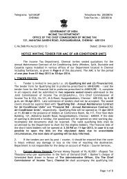 notice inviting tender for amc of air-conditioner units - Income Tax ...
