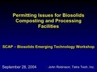 Biosolids Permitting - SCAP