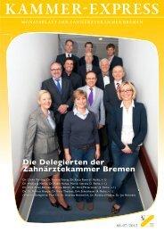Zahnärztliche Berufsausübung und Recht - Zahnärztekammer Bremen