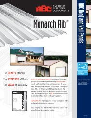 Monarch Rib Flyer - American Building Components