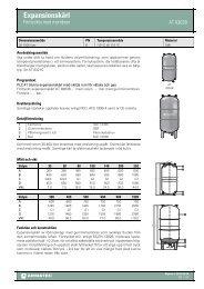 Produktbladför Expansionskärl - Förtryckta med membran - Armatec