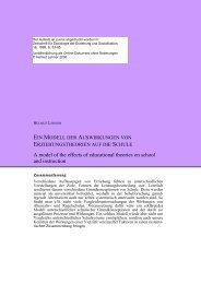 Download PDF - Auswirkungen auf die Institution