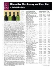Alternative Chardonnay and Pinot Noir