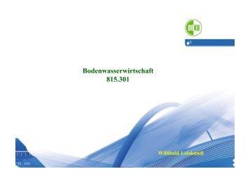 Evapotranspiration - Department Wasser-Atmosphäre-Umwelt (WAU)