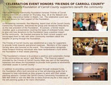2012 Friends of Carroll County - Carroll County Community ...