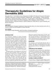 Therapeutic Guidelines for Atopic Dermatitis 2002 - Allergology ...