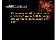 Römer 8,31-39 - EFG Hemsbach