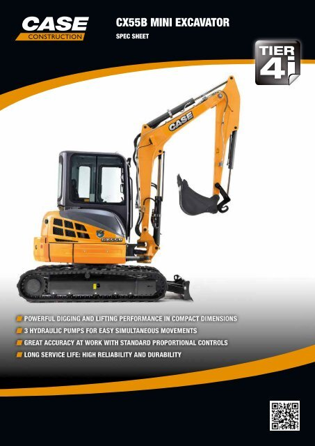 CX55B MINI EXCAVATOR - Titan Machinery Bulgaria