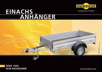 Humbaur Prospekt Einachs-Anhänger - Zu 11880.com