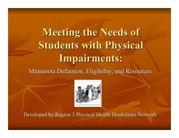 Services for Students with PI (PDF of Powerpoint Slides) - MN Low ...