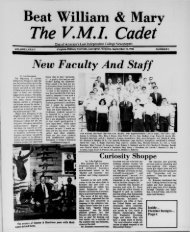The Cadet. VMI Newspaper. September 12, 1986 - New Page 1 ...