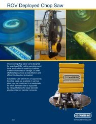 ROV Deployed Chop Saw - Oceaneering