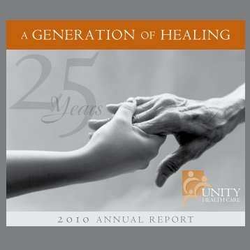 a generation of healing - Unity Health Care
